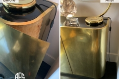 furniture-cabinet-table-credenza-laminate-metal-veneer-melamine-gold-brass-copper-install-glue-repair-